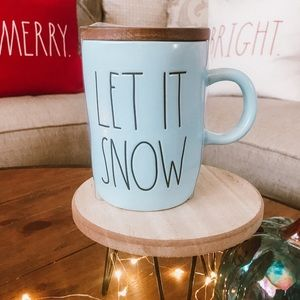 Rae Dunn Pastel Blue Let It Snow Mug With Topper